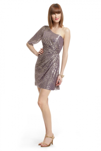 Metallic Filcoupe Shimmer Dress