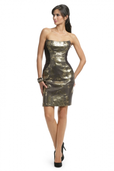 Metallic Gold Herrington Dress