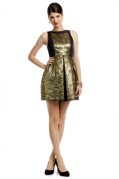 Metallic Jacquard Dress
