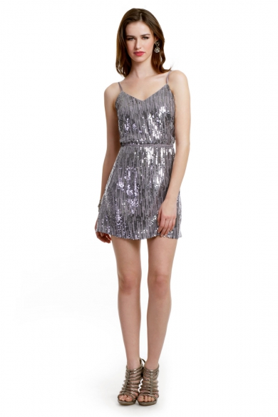 Metallic Rain Dress