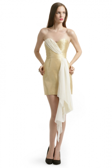 Mikade Gold Sash Dress