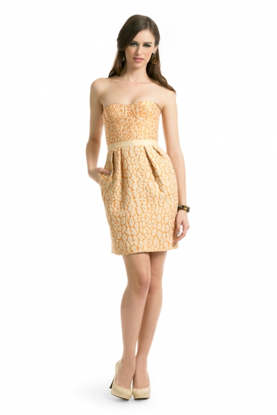 Naranja Leopard Dress