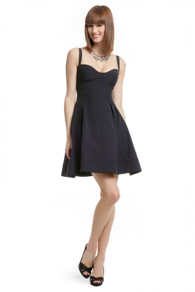Navy Flirt and Flare Dress