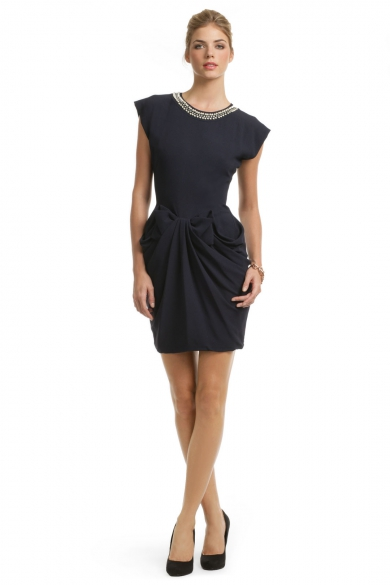 Navy Sable Bow Dress