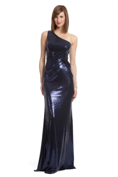 Navy Sequin Sultry Gown