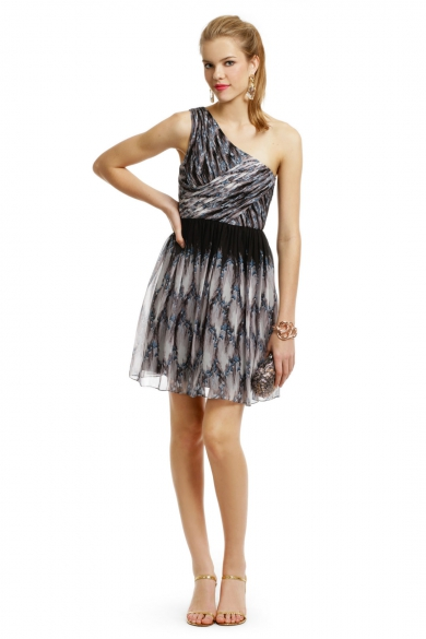 One Shoulder Pirouette Dress
