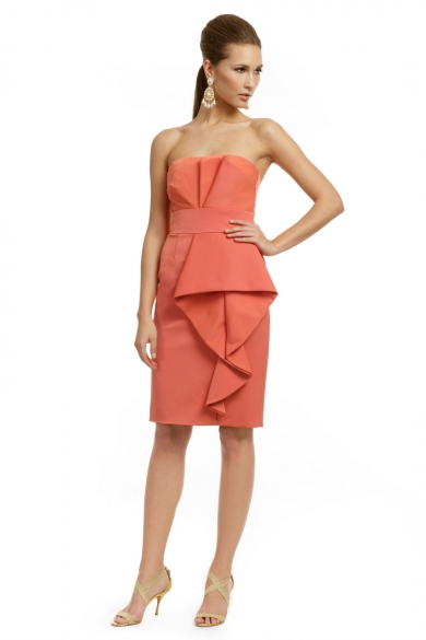 Orange Couture Wave Dress