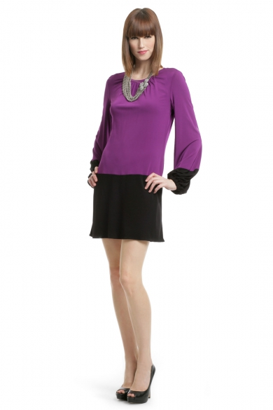 Orchid Block Shift Dress