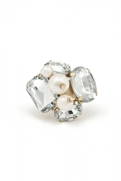 Pearl and Crystal Ring
