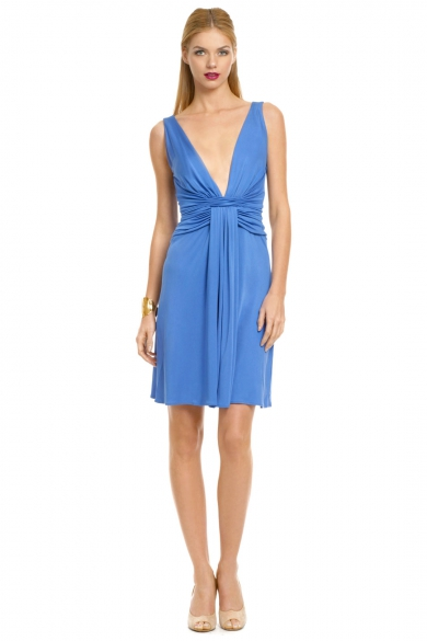 Plunging Deep V Drape Dress