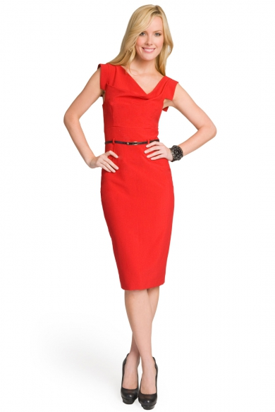 Red Jackie O Dress