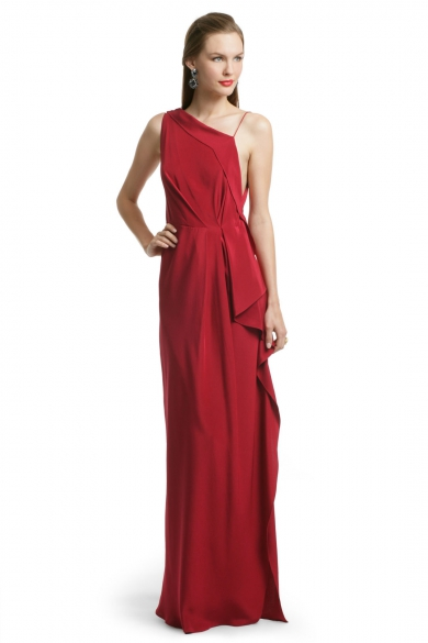 Red Moroccan Draped Gown