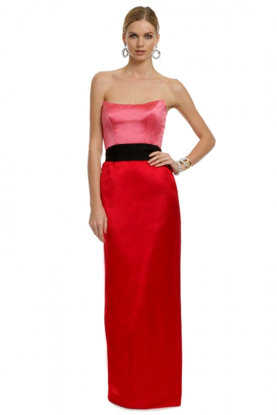 Red Qui Contrast Gown