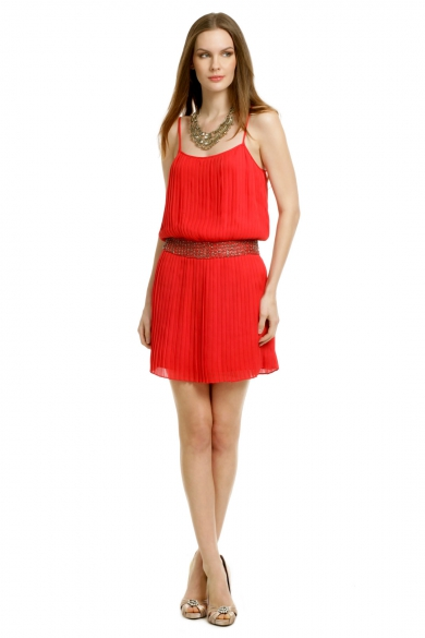 Red Shock Wave Dress