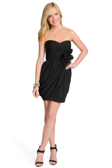 Rosette Strapless Dress