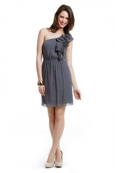 Ruffle Waterfall Dress