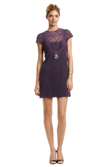 Rustic Plum Lace Dress