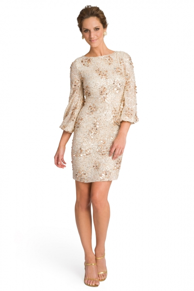 Sequin Bell Sleeve Sheath
