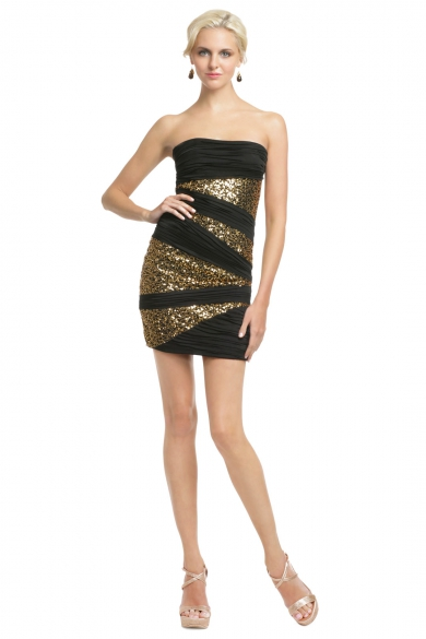 Sequin Inserts Mini Dress