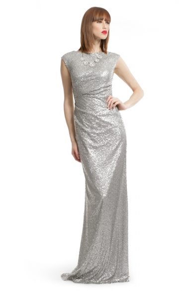 Silver Sequin Shine Gown