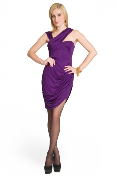 Slinky Draped Dress