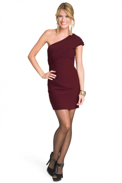 Sophisticated Merlot Dress