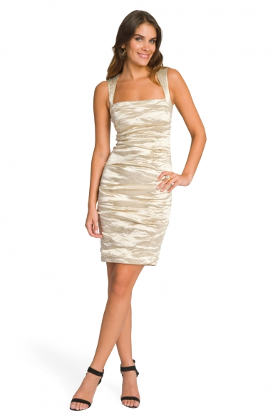 Square Neck Metallic Sheath