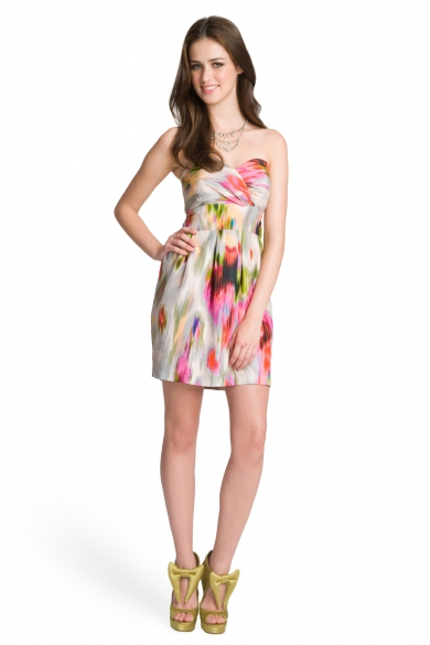 Starburst Strapless Dress