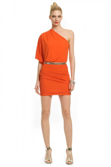 Sun Orange Allegra Dress