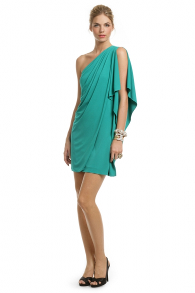 Teal Draped Dream Dress