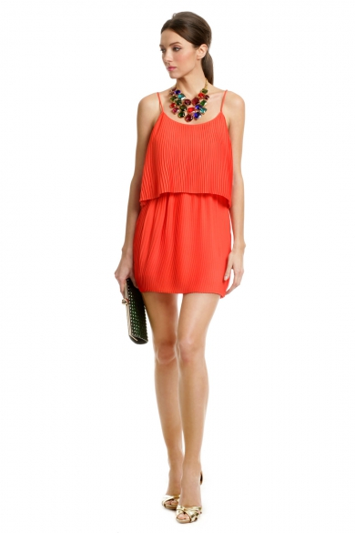 Tropical Coral Escape Dress