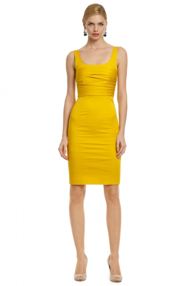 Yellow Rose Bodice Dress