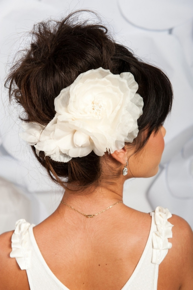 Ivory floral headpiece - Millie