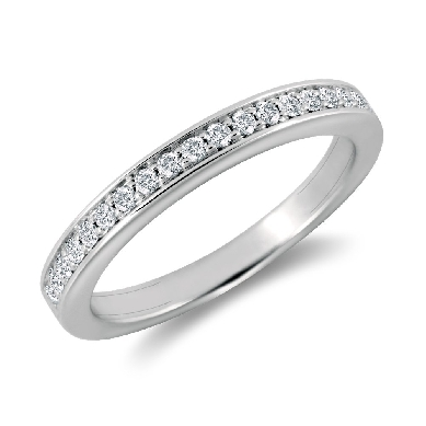 Cathedral Pave Diamond Ring in 18k White Gold (1/5 ct. tw.)