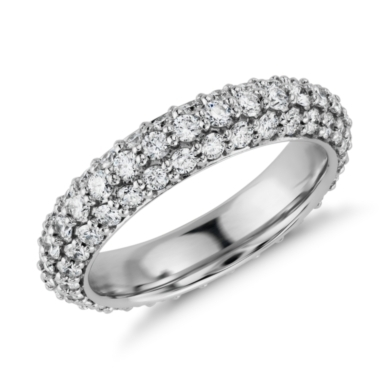 Starlight Pave Diamond Eternity Ring in Platinum (1 3/4 ct. tw.)