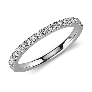 Petite Pave Diamond Ring in 14k White Gold (1/3 ct. tw.)
