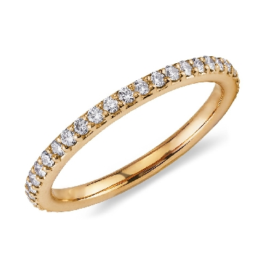 Pave Diamond Eternity Ring in 18k Yellow Gold (1/2 ct. tw.)
