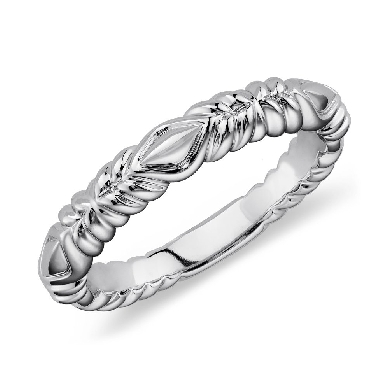 eiros(TM) Tendril Wedding Ring in 14k White Gold