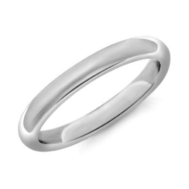 Comfort Fit Wedding Ring in Platinum (2.5mm)