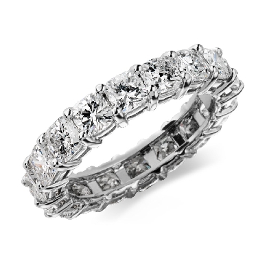 Cushion Diamond Eternity Ring in Platinum (4 ct. tw.)