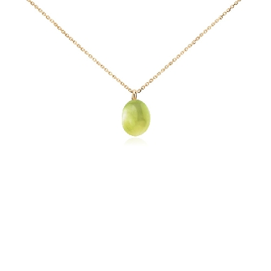 Lemon Quartz Pendant in 14k Yellow Gold