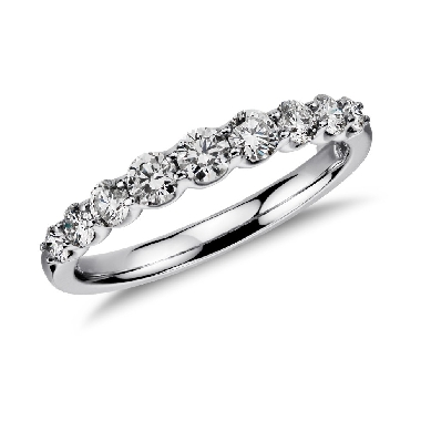 Graduated Diamond Ring in 14k White Gold (5/8 ct. tw.)