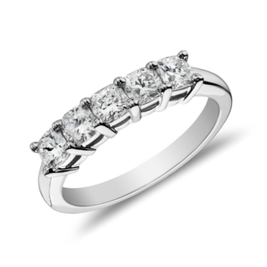 Classic Cushion Cut Diamond Ring in Platinum (1 ct. tw.)