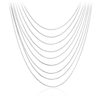 Layered Strand Necklace in Sterling Silver