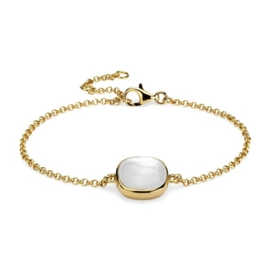 Mother of Pearl Bracelet in 18k Yellow Gold Vermeil