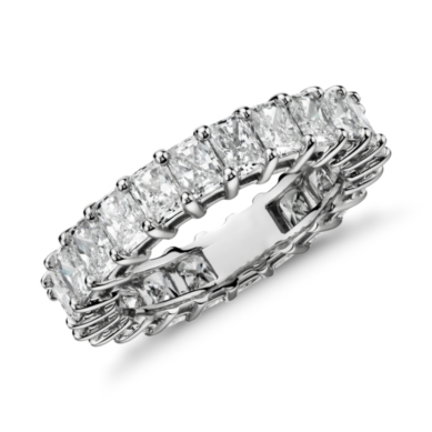Radiant-Cut Diamond Eternity Ring in Platinum (4.00 ct. tw.)