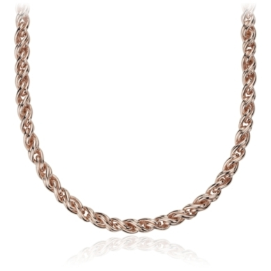 Woven Necklace in Rose Gold Vermeil
