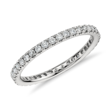 Pave Diamond Eternity Ring in Platinum (1/2 ct. tw.)