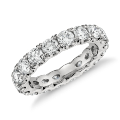 Split Prong Diamond Eternity Ring in Platinum (2.5 ct. tw.)