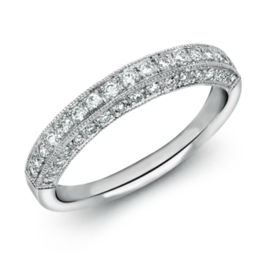 Heirloom Pave Diamond Ring in Platinum (3/8 ct. tw.)